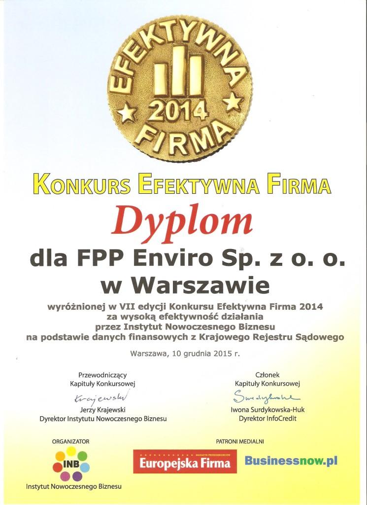 Dyplom dla Enviro